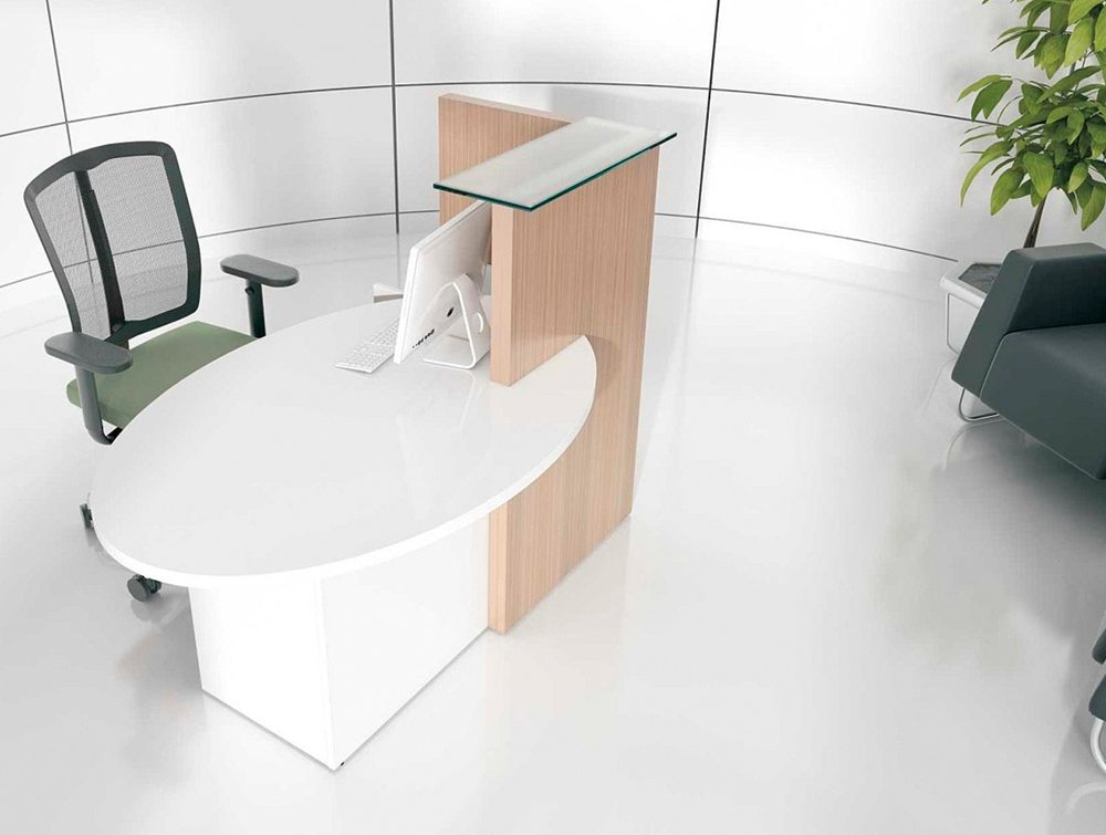 Ovo multifunctional small reception desk full view