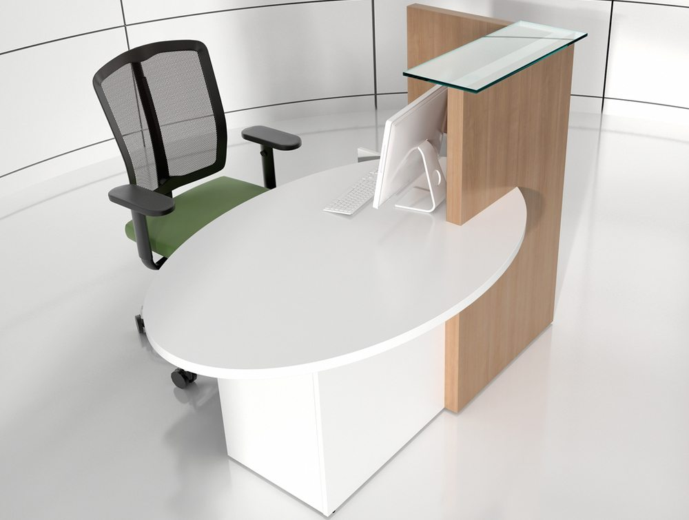 Ovo multifunctional small reception desk