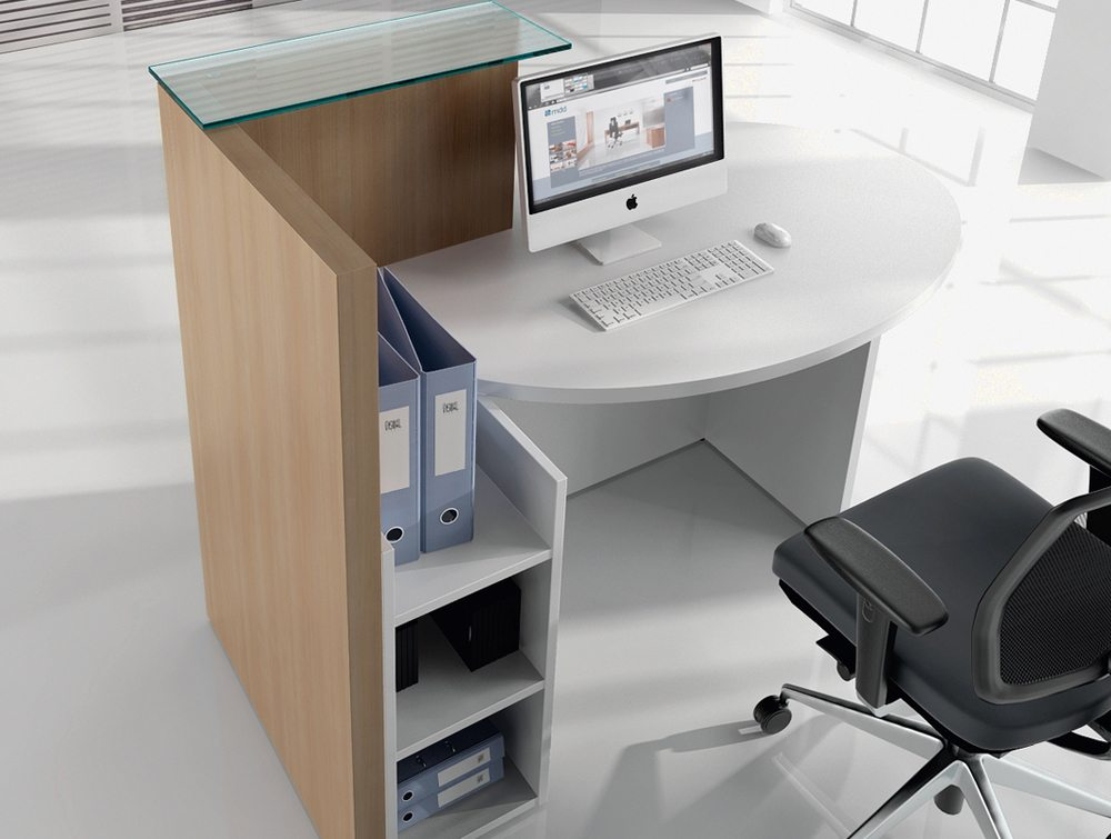 Ovo multifunctional reception desk inside view