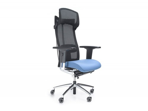 Profim action executive ergonomic chair in mesh with headrest