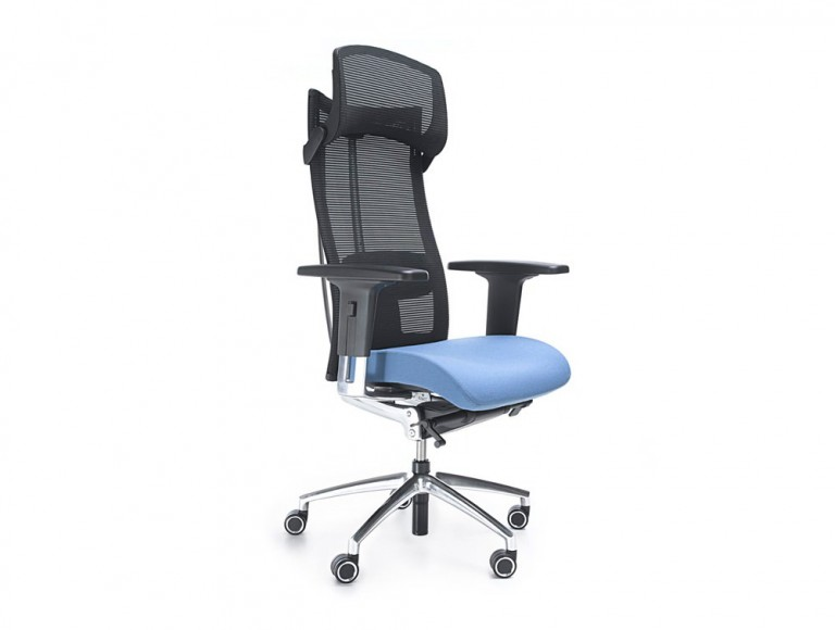 Profim action executive ergonomic chair in mesh with headrest