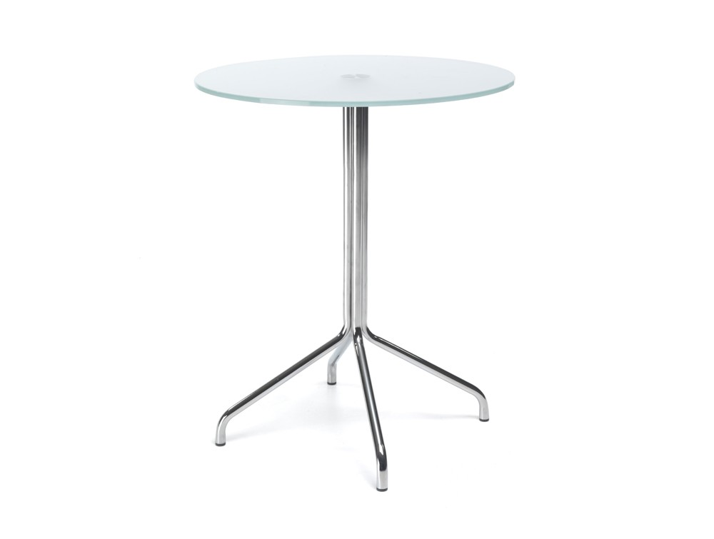 720mm height profim SH table with metal legs in tempered glass