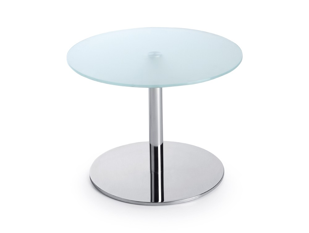 profim sr round base table in tempered glass. Black Bedroom Furniture Sets. Home Design Ideas