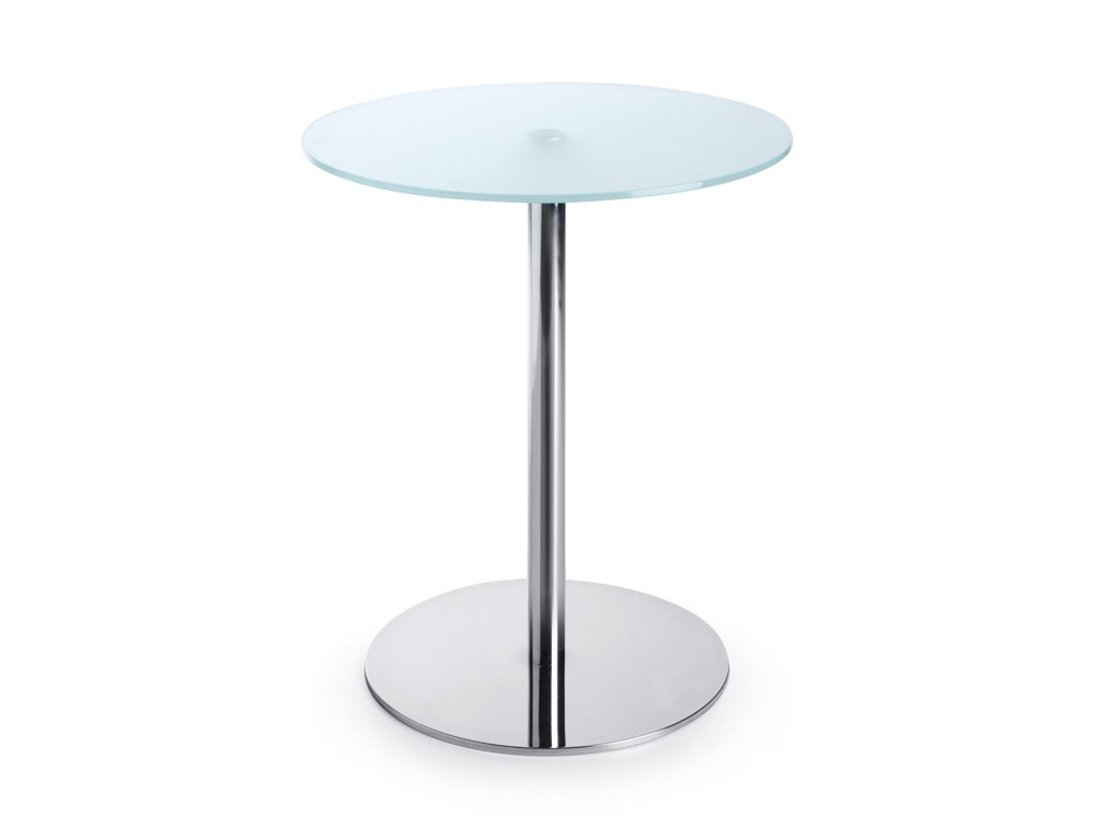 720mm height Profim SR table in tempered glass and round base