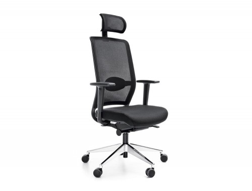 Profim veris net executive ergonomic chair in mesh with headrest