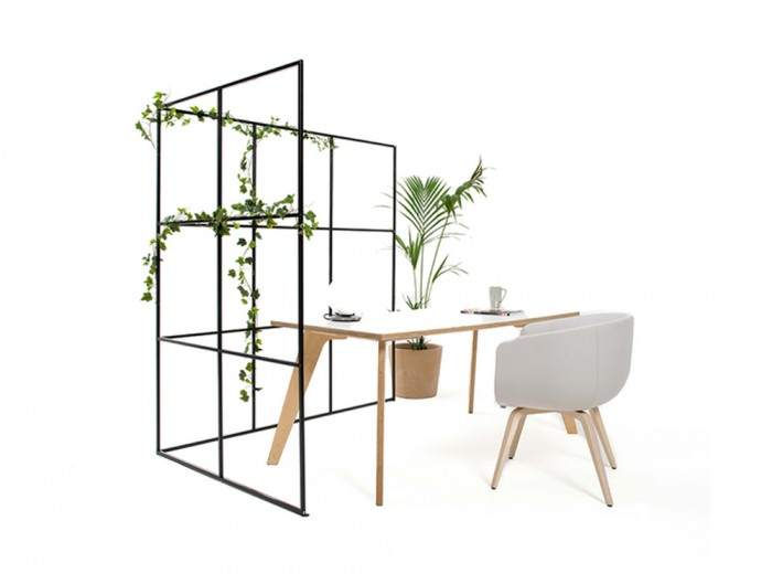 Palisades-Metal-Grid-Partition-Open-Space-Dividers-with-Lounge-Chair-and-White-Beech-Table