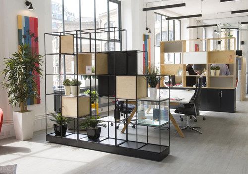 Palisades-Metal-and-Wooden-Grid-Office-Dividers-with-Storages-Base-Alcove