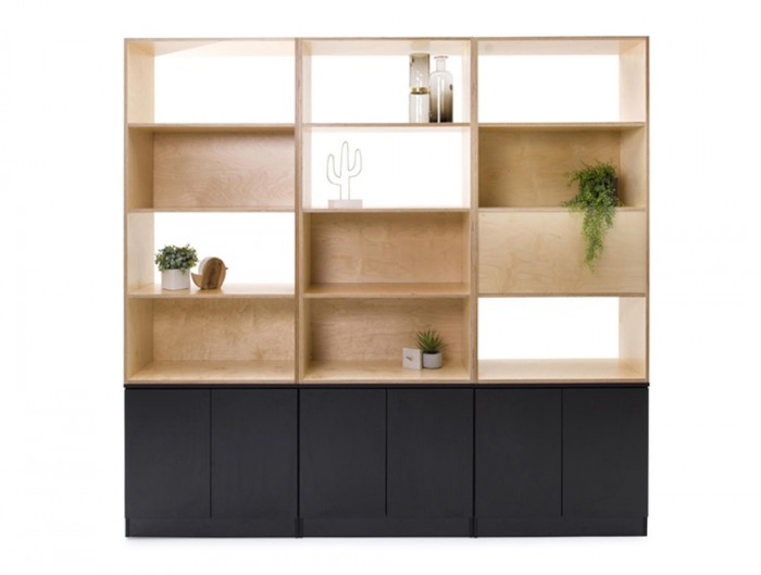 Palisades-Wooden-Grid-Office-Space-Dividers-with-Storage-Back-and-Front-Panel