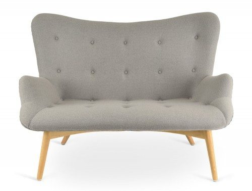Papa 2-Seater Sofa with Ash Legs Front Angle