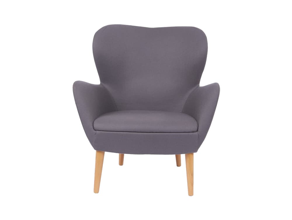 Pause Soft Seating Chair with Wooden Legs