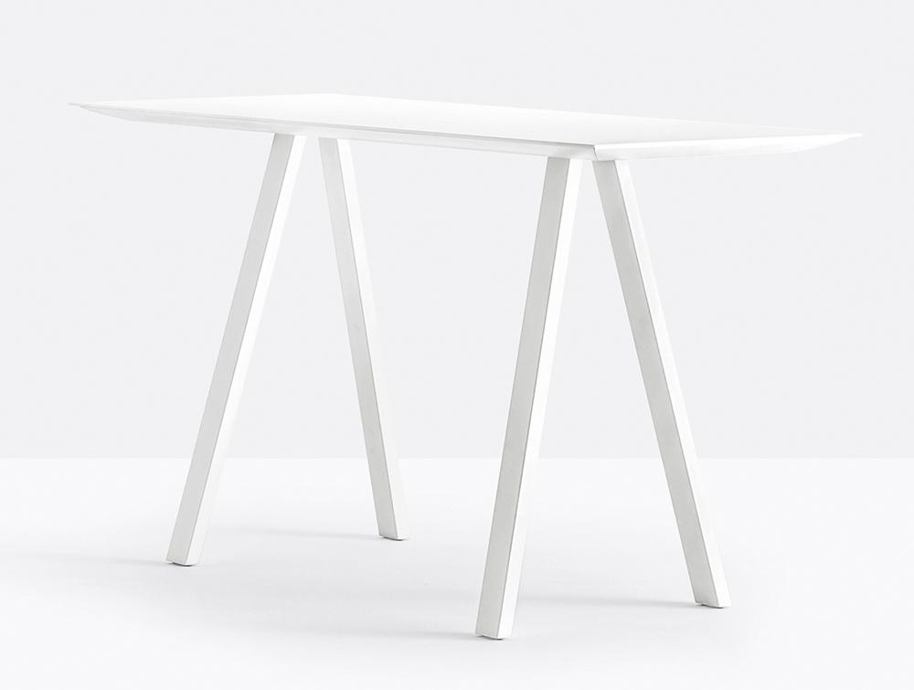 Pedrali Arki Rectangular High Table with Steel Trestle Legs 3.jpg