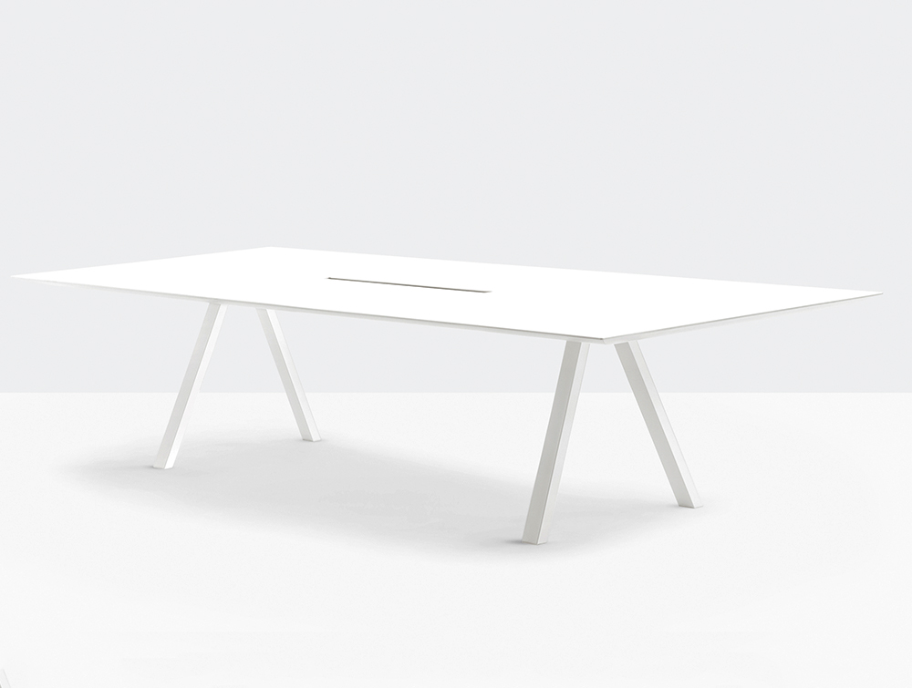 Pedrali Arki Rectangular Table with Cable Management