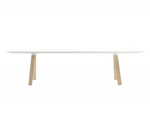 Pedrali Arki Rectangular Wooden Finish Table