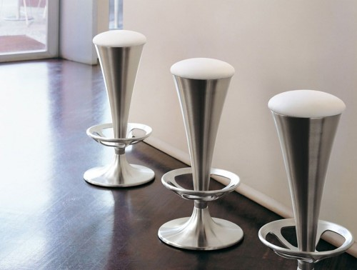 Pedrali Dream Upholstered Stool 2 in Chrome Finish with White Seat Finish.jpg