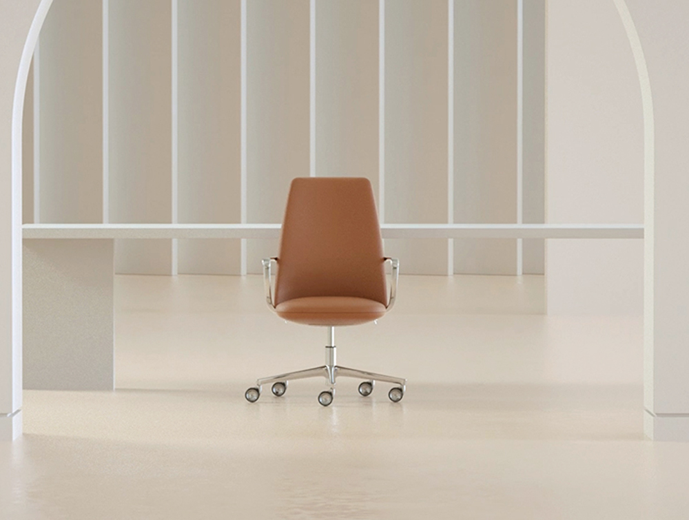 Pedrali Elinor Executive Chair with Five-Spoke Base 4.jpg
