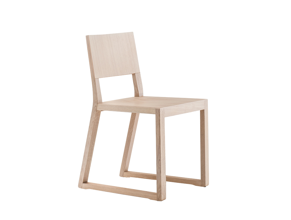 Pedrali Feel Sled Base Solid Wood Chair