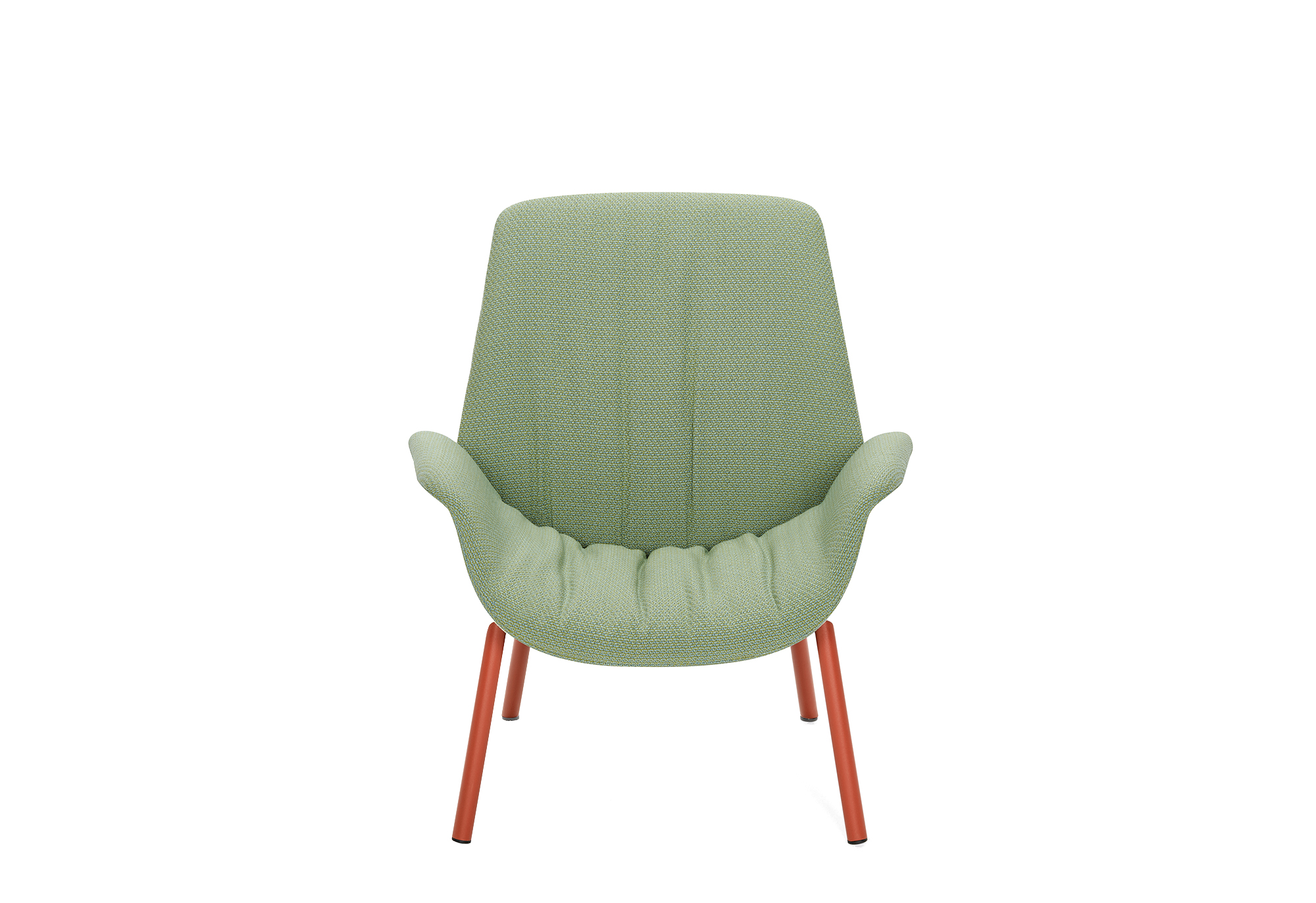 Pedrali Ila Lounge Armchair with Four-Legs in Steel Tube Frame