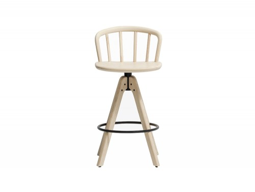 Pedrali Nym Wooden Stool with Footrest
