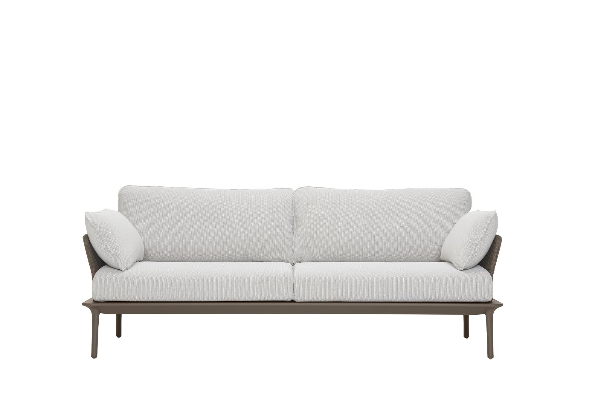 Pedrali Reva Twist Lounge Outdoor Three-Seater Sofa