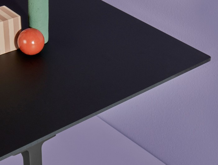 Pedrali Toa Industrial Style Table 8 in Black Top Finish.jpg