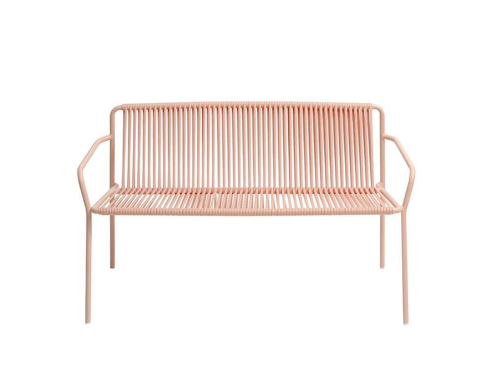 Pedrali Tribeca Two-Seater Steel and PVC Sofa