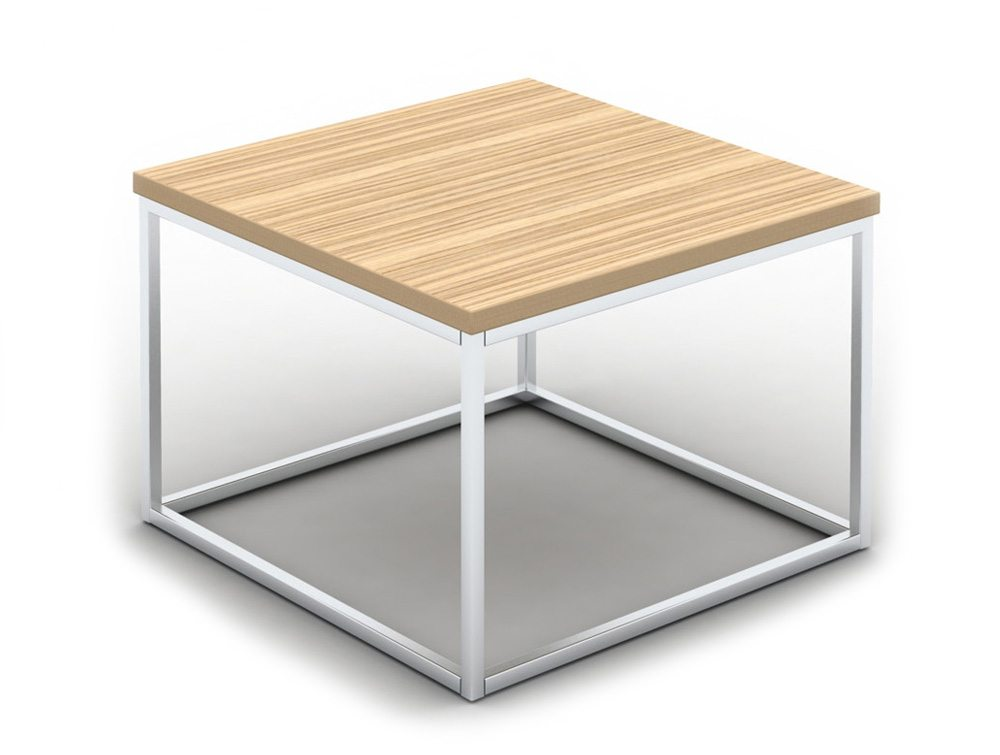 Pitch Square Coffee Table With Closed Chrome Frame