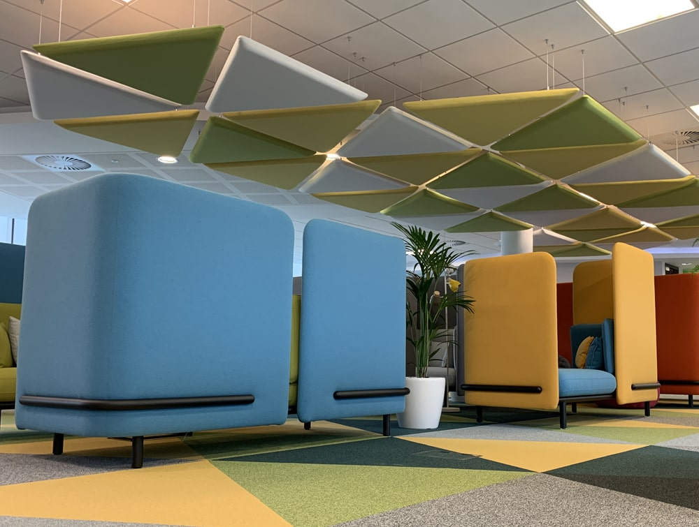Playrix Office Blue High Roof Meeting Den with Acoustic Panels