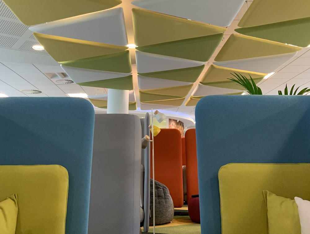 Playrix Office Ceiling Suspended Triangular Acoustic Panels