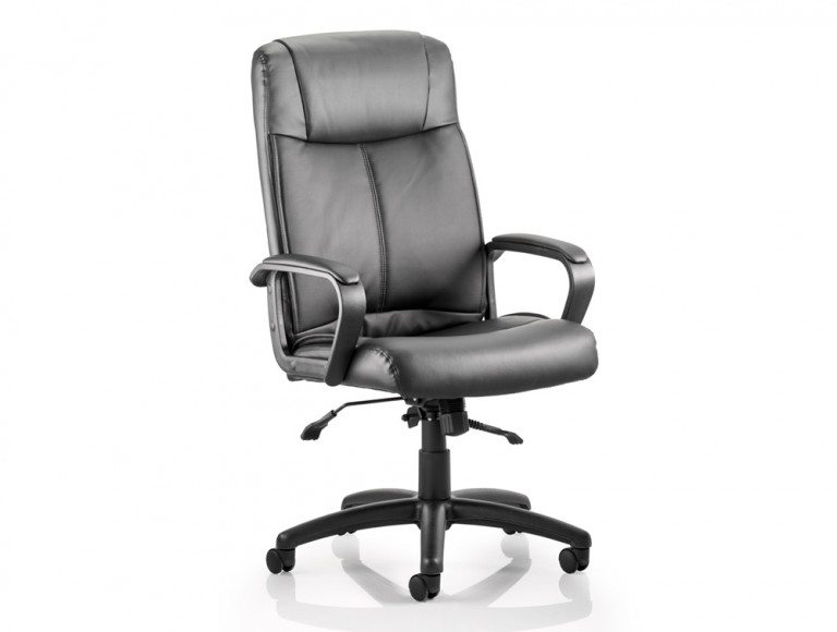 Plaza Executive Chair Black Bonded Leather With Arms Featured Image