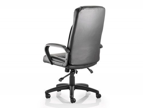 Plaza Executive Chair Black Bonded Leather With Arms Image 3