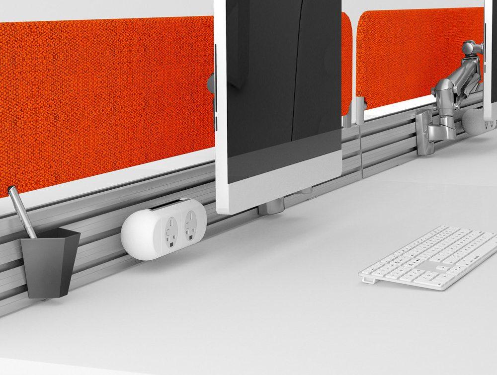 Podium Mesh Screens in Orange