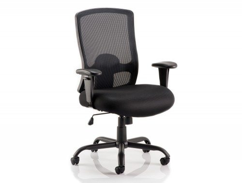 Portland Hd Task Operator Chair Black Mesh With Arms Featured Image