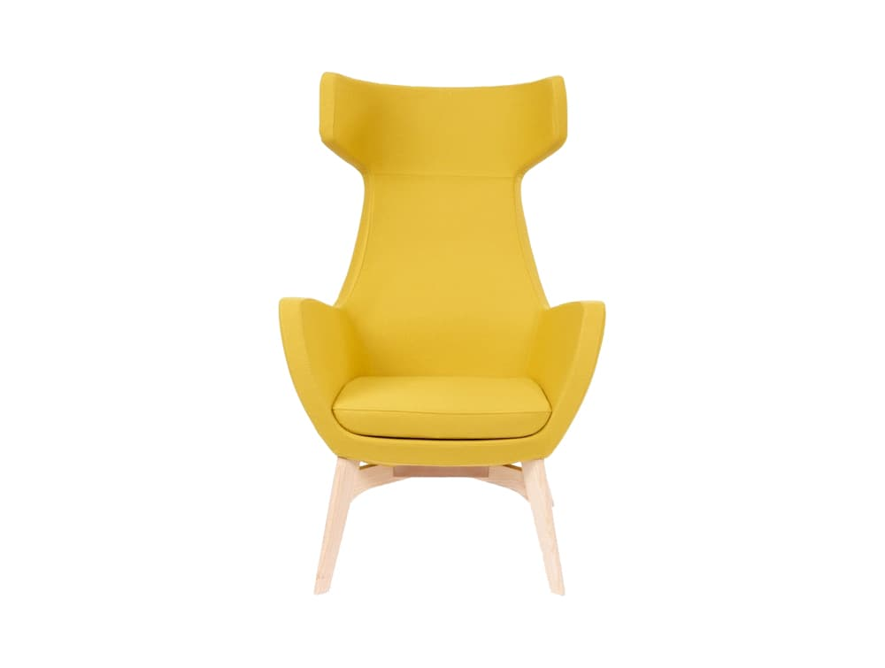 Portland Lounge Chair with Wooden 4 Legged Base