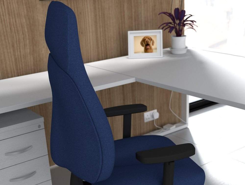 Positura Operator Office Desk Armchair in Blue