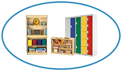 Preschool Primary School Storage Furniture Bookshelf Lockers and Cupboards Category TOP Image