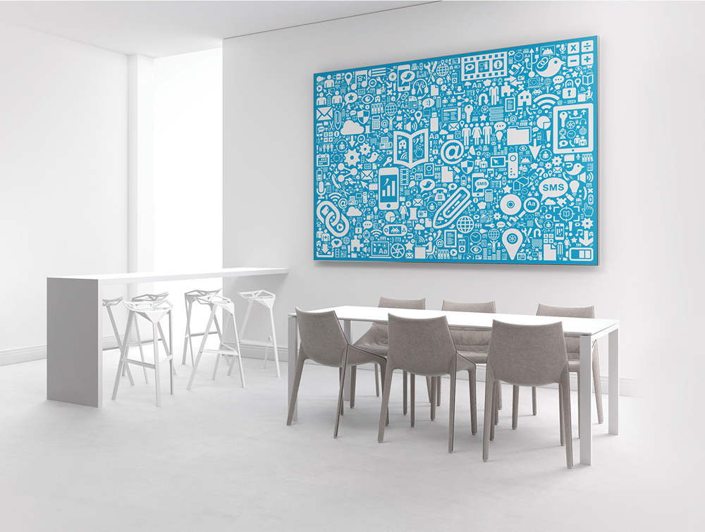 Print Personalised Acoustic Panel with Digital Art in Living Room