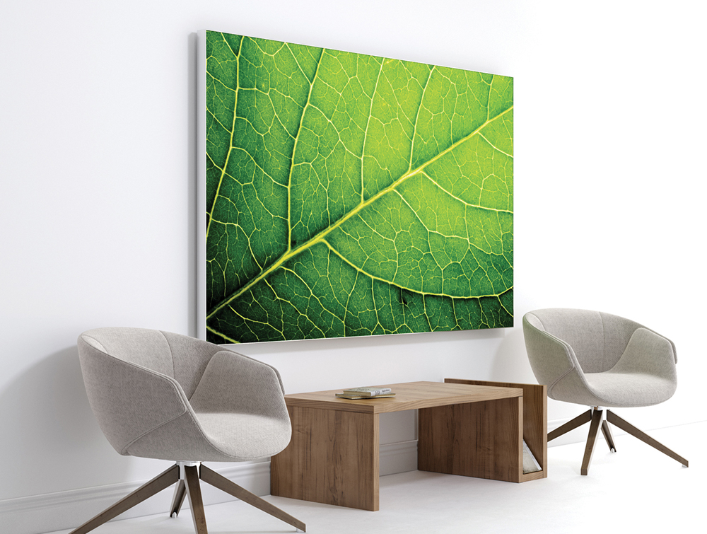Print Personalised Acoustic Panel with Nature Art in Living Area