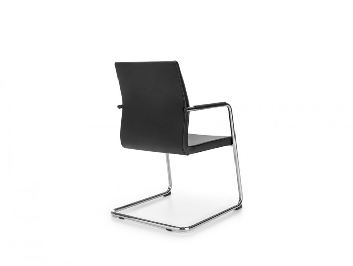 Profim Acos Chair for Executive Office Room in Black Leather Finish