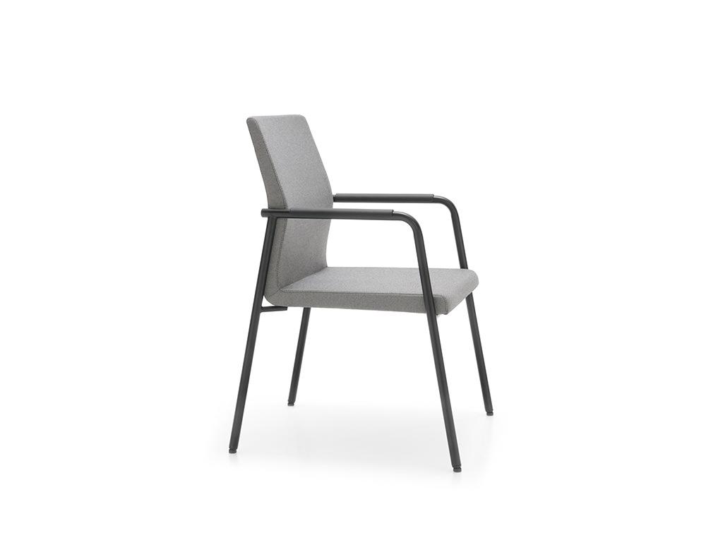 Profim Acos Executive Armchair Meeting Room in Dark Grey and Black Frame