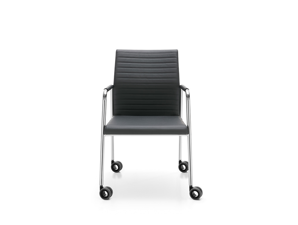 Profim Acos Executive Armchair Meeting Room with Chrome Base with Castors