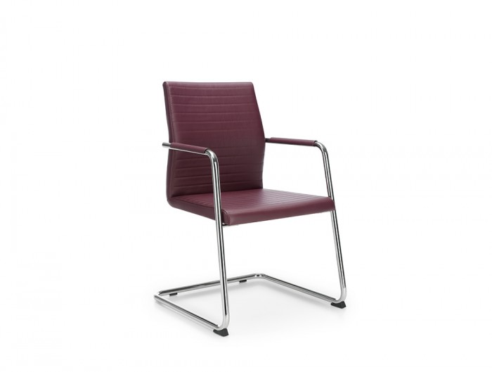 Profim Acos Executive Meeting Room Chair with Cantilever Chrome Base