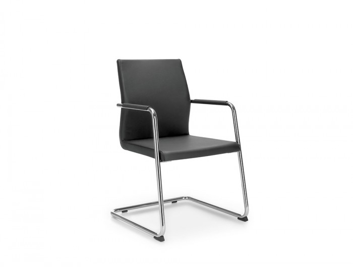 Profim Acos Executive Reception Chair with Cantilever Base and Hard Glides
