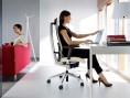 Profim action executive ergonomic chair fabric without headrest view in an office