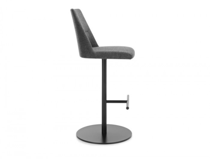 Profim Chic Bar and Canteen High Stool without Armrests and Round Base in Grey