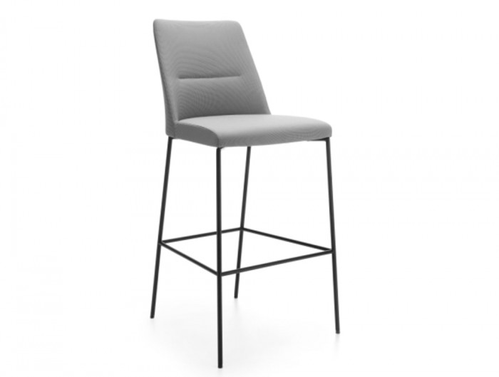 Profim Chic Bar and Canteen Stool without Armrests and Metal Legs Black in Grey