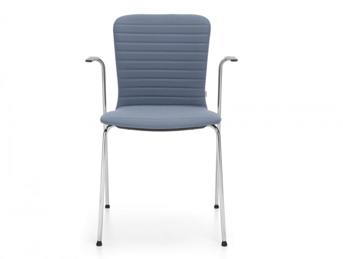 Profim Com Chair Waisted Shape with Fully Upholstered in Blue