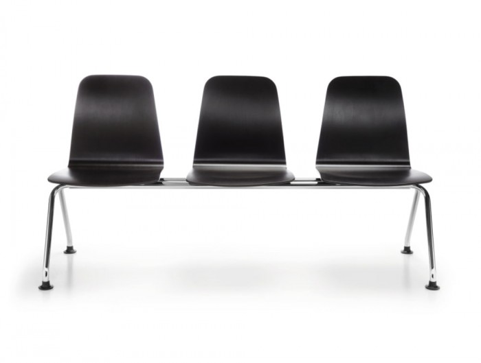 Profim Com Waiting and Reception Areas Bench Seating 3 Seater in Black