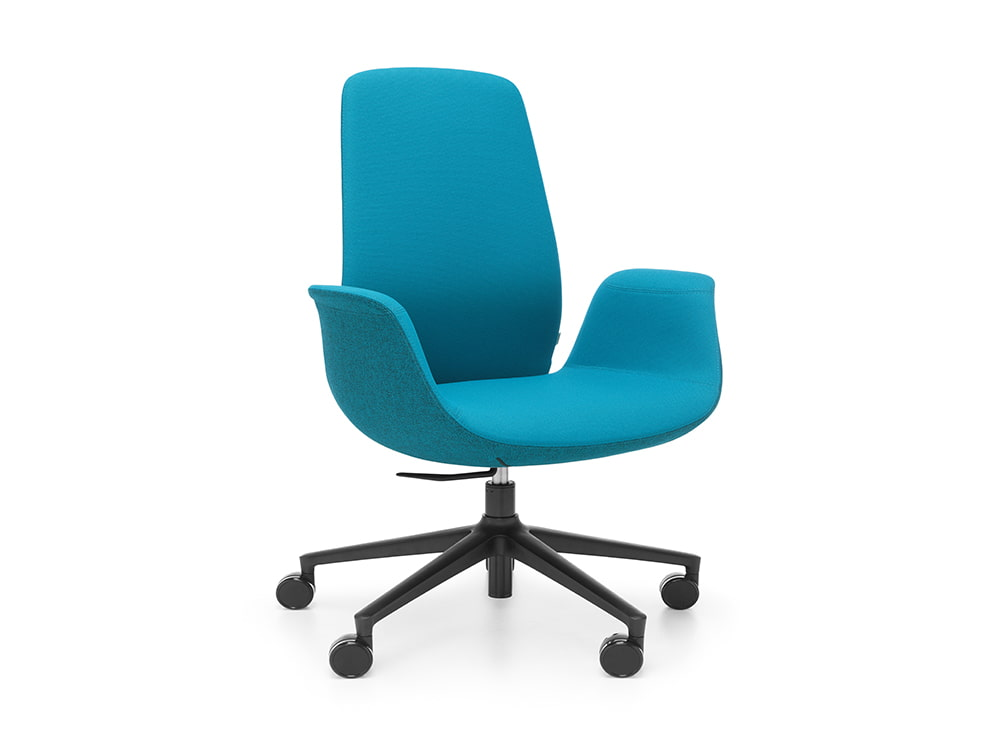 Profim Ellie Lounge Office Chair with Castors Wheels and Self Mechanism for Height Adjustment
