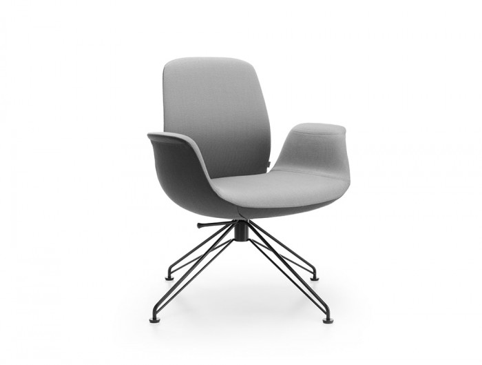 Profim Ellie Reception Chair in Two Colour Finishes Grey and Black with Wire Base