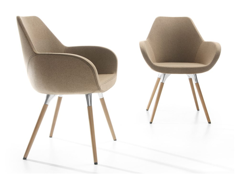 Profim Fan Armchair Front and Side Angle